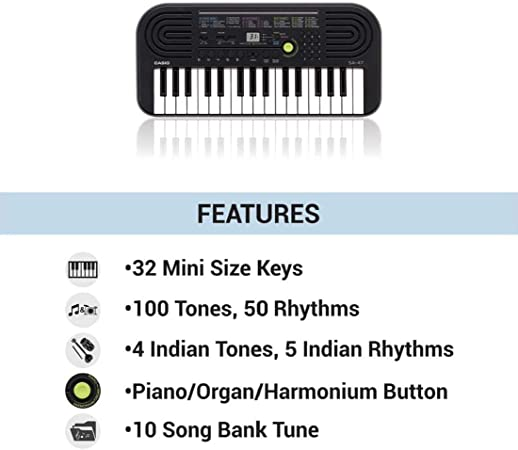 Casio SA-47 - Miniteclado electrónico para niños con 32 ...
