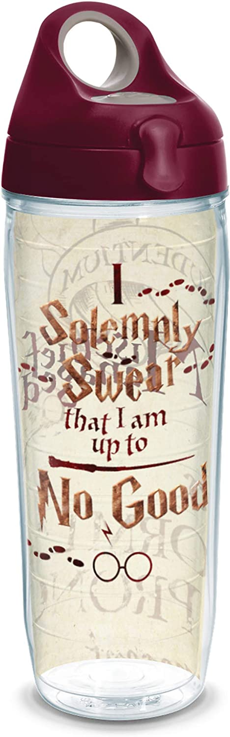 24Oz Clear Tervis 1238328 Harry Potter-I Solemnly Swear That I Am up to No Good Insulated Tumbler with Wrap and Brown Lid
