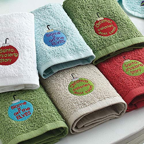 BrylaneHome Holiday 6-Pc. Washcloth Set (Holiday Washcloth)