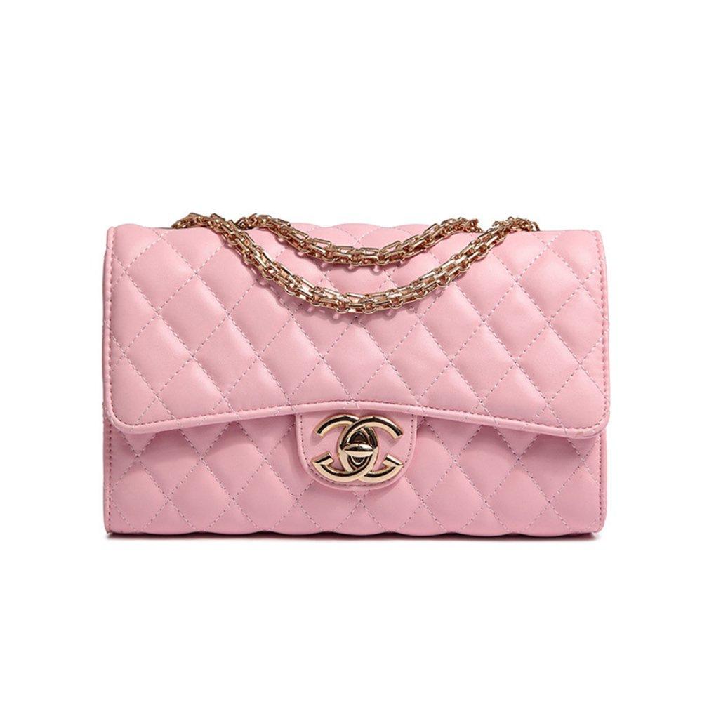 WJNKK 2018 Baby Frauen Handtaschen Umhängetasche Kette Schultertaschen Mode Mini Taschen Lingge Handtaschen26x15x10 Cm Black-OneSize