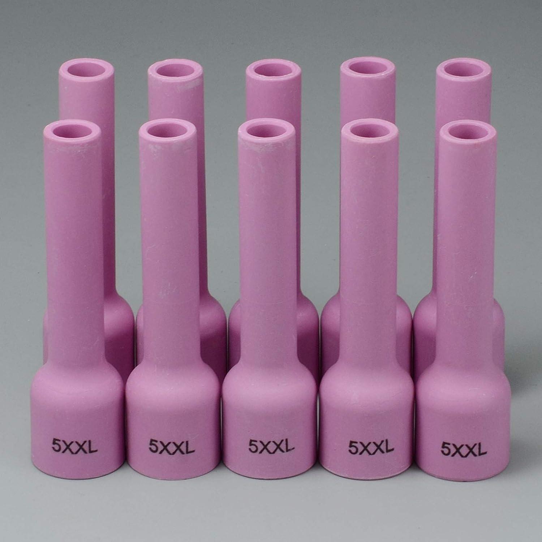 53N59XL #5L TIG Long Aluminia Ceramic Nozzle /& WP 9 20 25 TIG Welding Torch 5PK