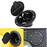MICTUNING Aluminium Tankdeckel Gas Tank Cap für 2 & 4 Türen Jeep Wrangler JK/Unlimited 2007-2015 schwarz