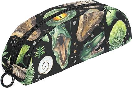 Estuche para lápices con diseño de huevos de dinosaurio con cremallera, bolsa de maquillaje pequeña para niños y adolescentes: Amazon.es: Oficina y papelería