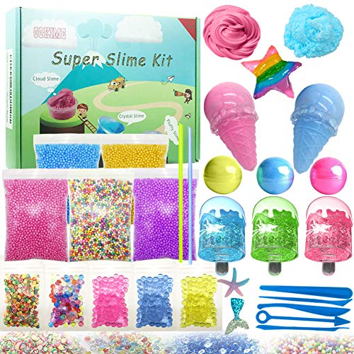 slime supplies kit 55 pack slime beads charms include fishbowl