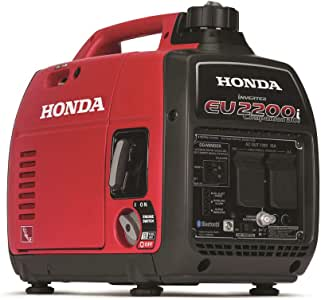 Honda 663530 EU2200 120V 2200-Watt 0.95 Gallon Companion Portable Inverter Generator with Co-Minder