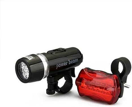 Luz Led Linterna para Bicicleta Piloto y Soporte para Manillar a Pilas Foco 2348: Amazon.es: Deportes y aire libre