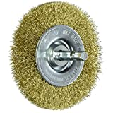 Vermont American 16792 3-Inch Fine Brass Wire Wheel Brush with 1/4-Inch Hex Shank for Drill