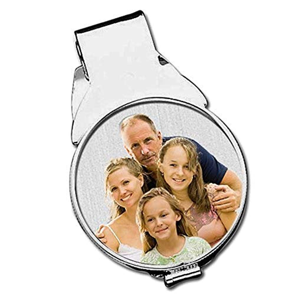 Half Dollar Size Money Clip Sterling Silver with Engraving PG79114 PicturesOnGold.com Sterling Silver Photo Engraved