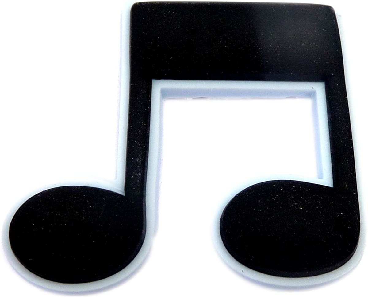 Music Note Rubber Charm for Wristbands and Shoes