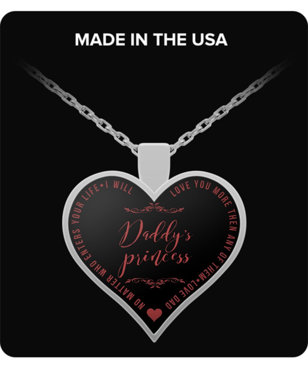 Amazon.com: Necklaces For Teen Girls - Daddy's Princess - Heart Shaped  Pendant - Love Quotes - Cute Gift: Sports & Outdoors