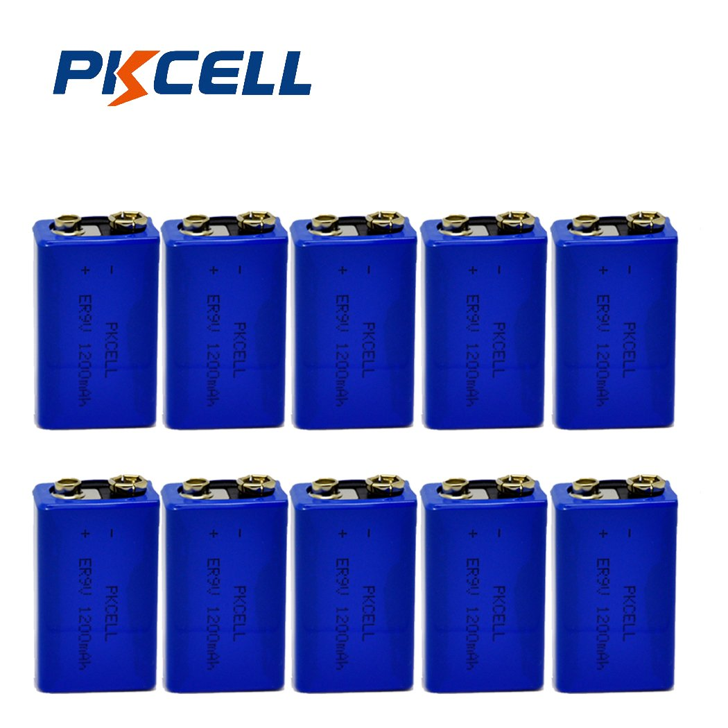 9V 1200mAH Lithium Battery for Smoke Detectors Pack of 10