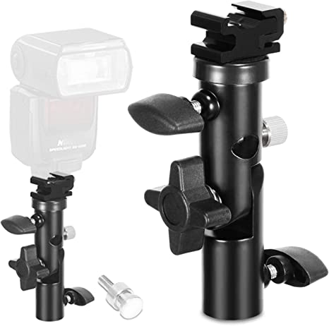 Pack of 2 Ex-Pro Flash Hot Shoe Mount Adapter to 1//4 Thread for Studio Light Stand Tripod