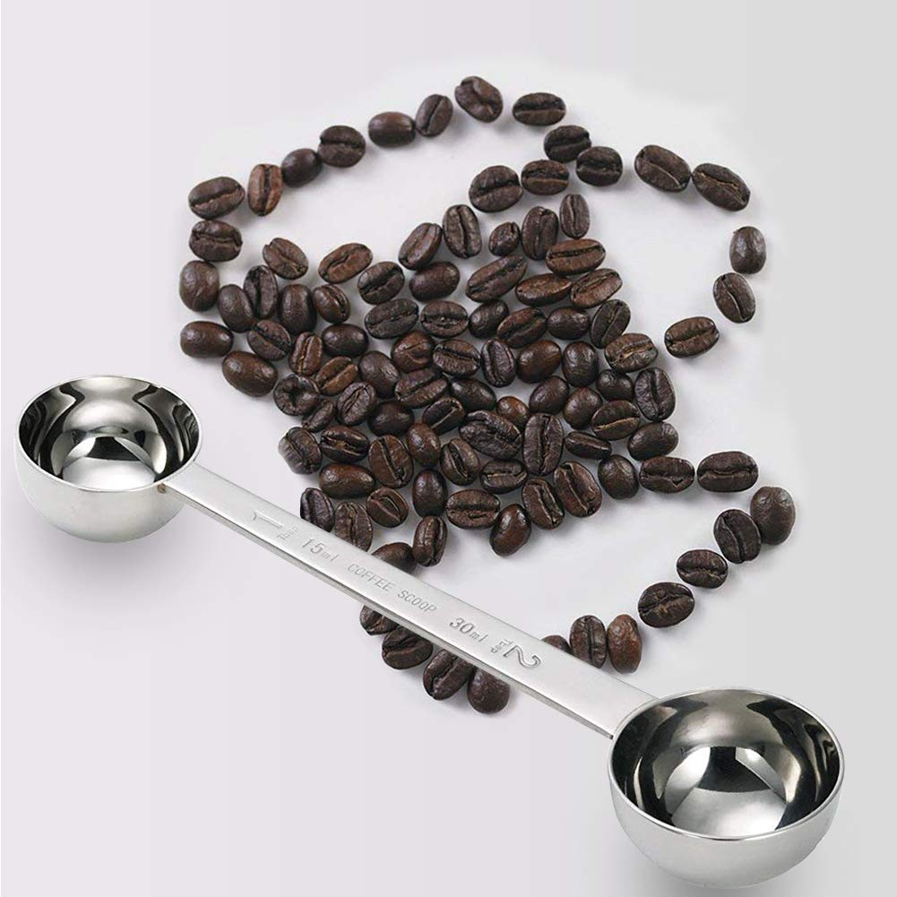 Coffee Scoop Stainless Steel Tablespoon long handled Spoons 1TPS 2TPS (15&30ML) by IZELOKAY (Image #1)