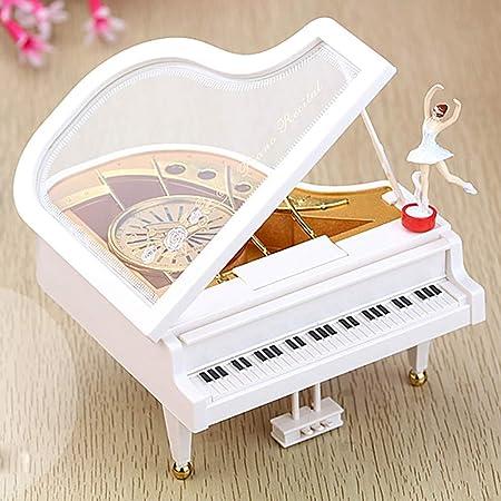 Caja de música Adornos Piano Dancing Girls Caja musical giratoria Vintage Mecánica Bailarina clásica Chica Octava: Amazon.es: Hogar