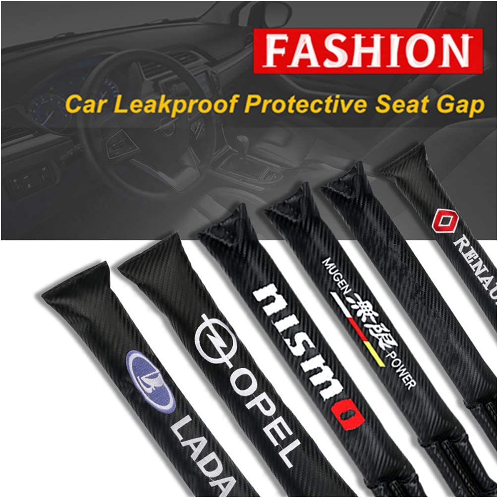 Car accessories LAUTO 2Pcs For Abarth 500 595 racing modified scorpion logo Car Seat Gap Filler Pad Prevent items from falling Gap Filler Pad Spacer Leakproof Protective Pad Car Seat Slot Plug Pad