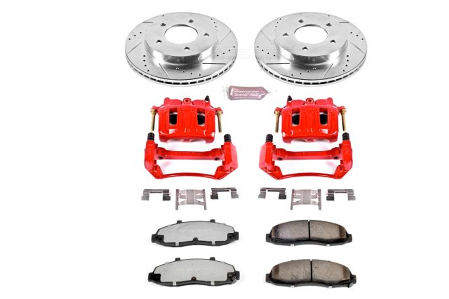 Power Stop KC1866A-36 Front Z36 Truck and Tow Brake Kit with Calipers