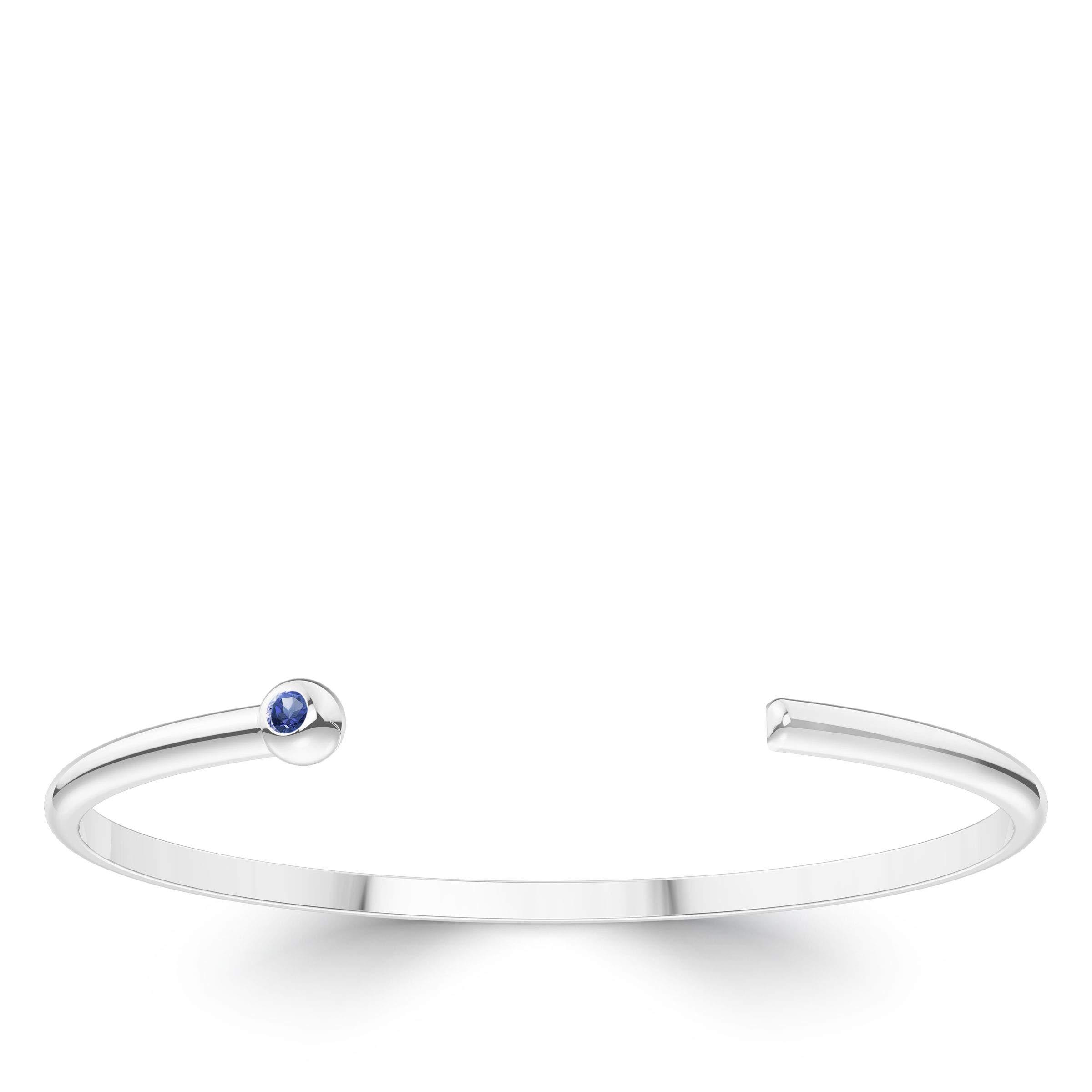 Gumdrop Sapphire Cuff Bracelet in Sterling Silver by Bixler