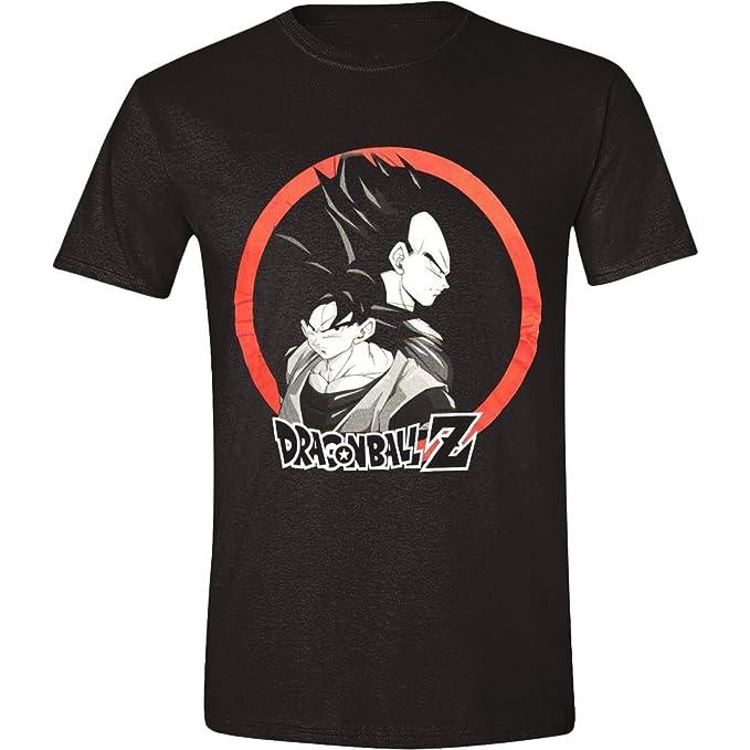 Dragon Ball Z - Goku & Vegeta Hombres Camiseta - Negro, Taille:L