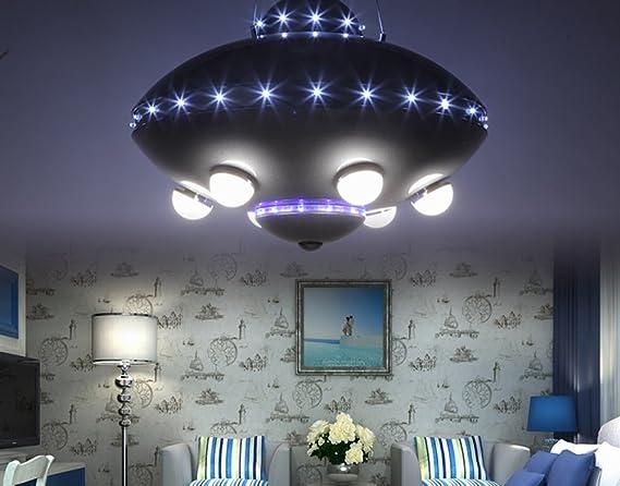 Illuminazione Camera Dei Ragazzi : Renjz lampadario lxsehn ferro creativo led nero dei cartoni