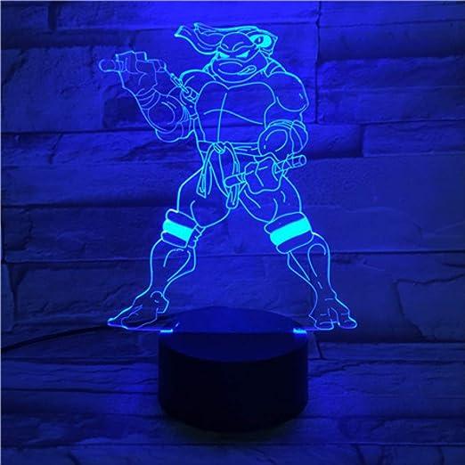 Luz de la noche de ilusión 3d Tortuga Ninja Mutante ...