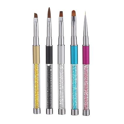 Amazon Gotd 5pcs Nail Brush Set Nail Art Pen Nail Art Design