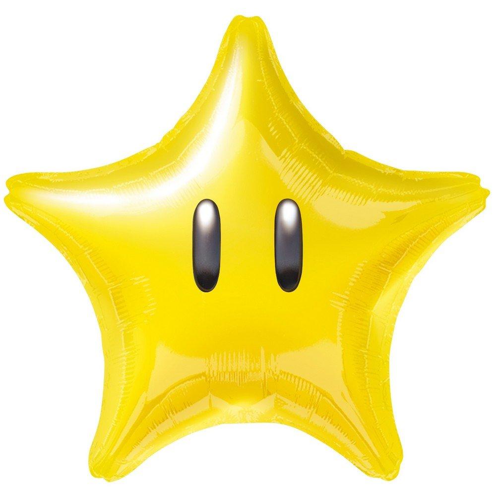 GUIZMAX Globo Estrella Amarillo Mario Bros Helio: Amazon.es ...