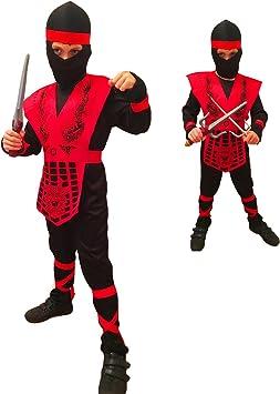 Rubber Johnnies TM Infantil Rojo Negro Combate Mortal Disfraz ...