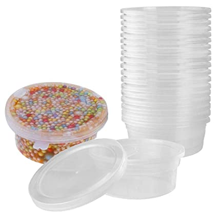 amazon com yrym ht slime containers for slime supplies plastic