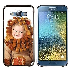 For Samsung Galaxy E7 E700 Case , Naturaleza Blue Lake- Diseño Patrón Teléfono Caso Cubierta Case Bumper Duro Protección Case Cover Funda