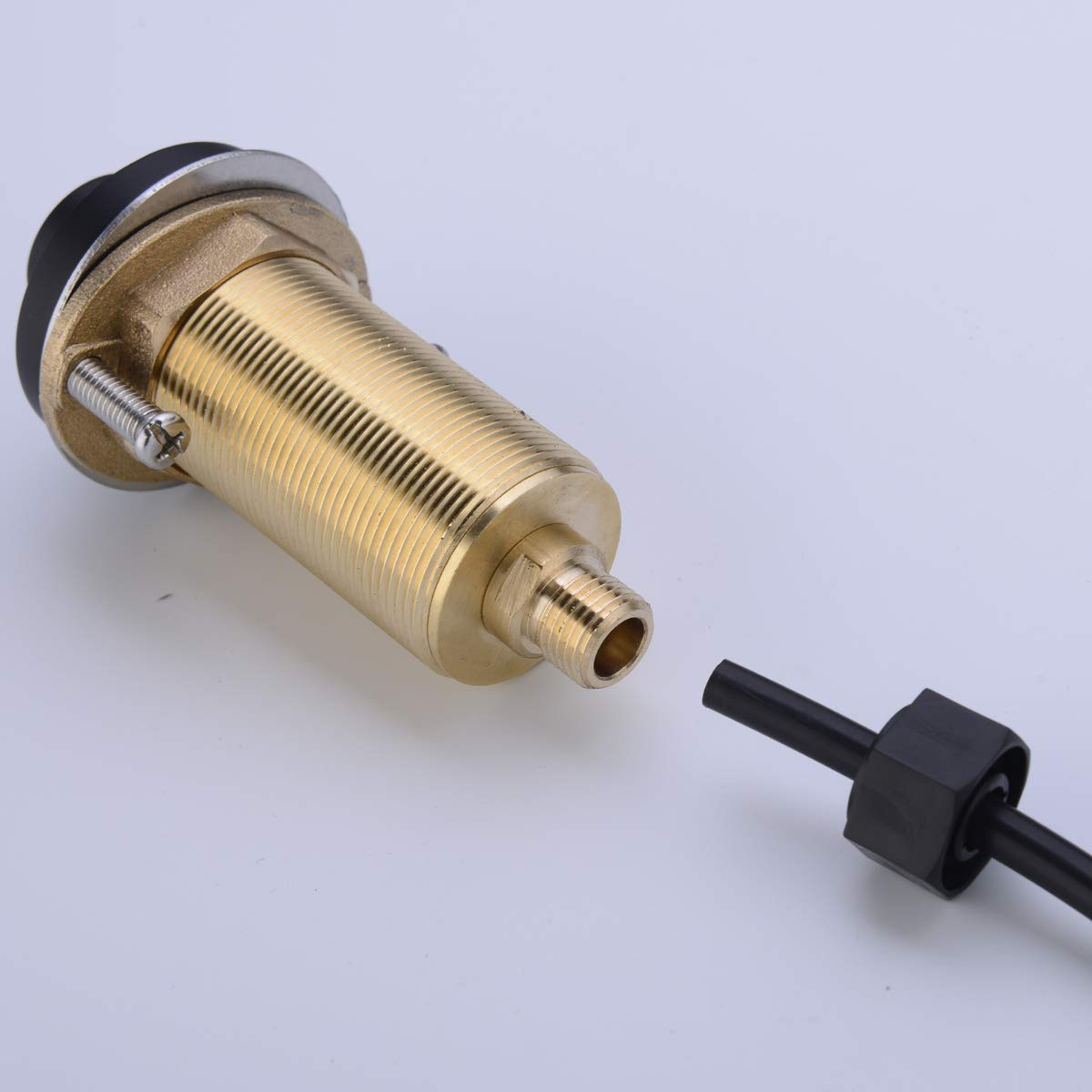 SINKINGDOM SinkTop Air Switch Kit (Full Brass) for Garbage Disposal, Cordless (Matte Black) by SINKINGDOM (Image #4)