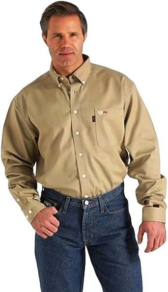 Wlw3003001ind Cinch Mens WRX Flame-Resistant Denim Work Shirt