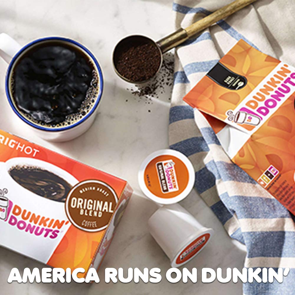 Dunkin' Donuts Original Blend Coffee for K Cup Pods, Medium Roast, For Keurig Brewers, 60Count by Dunkin' Donuts (Image #9)