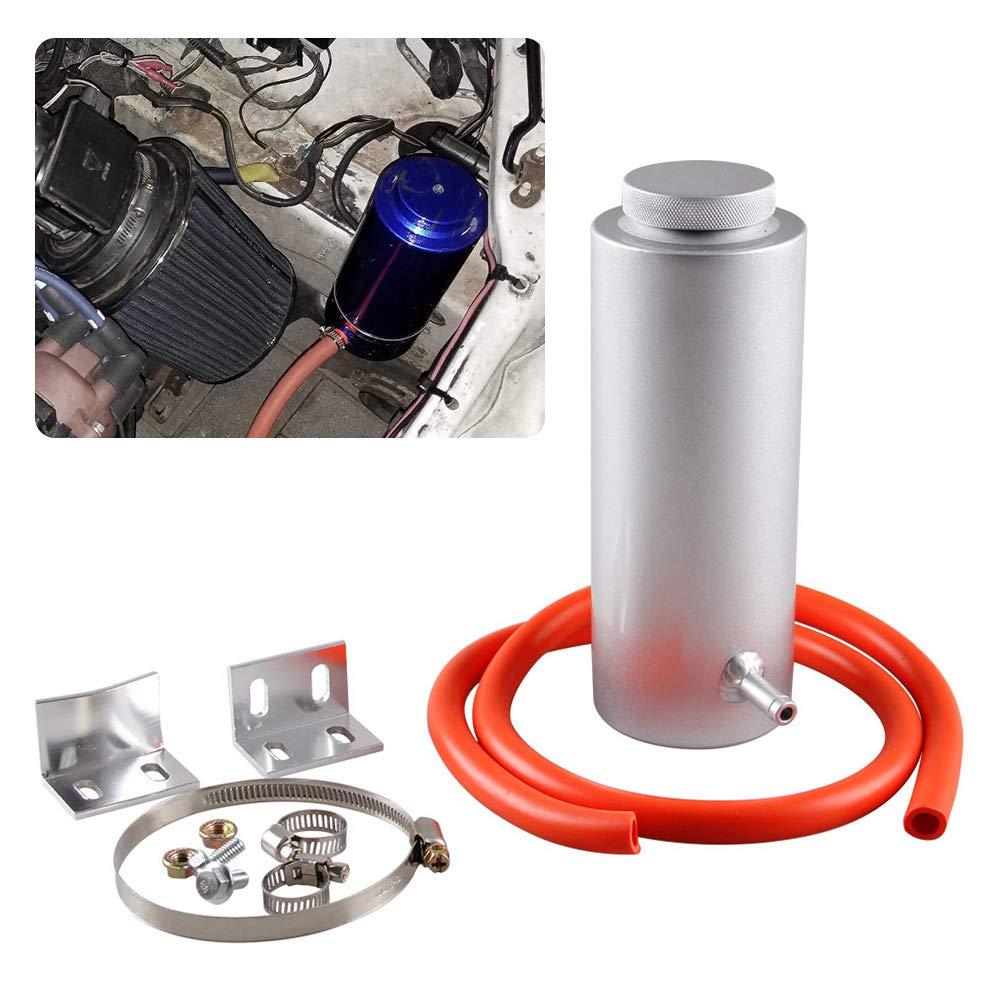 Ryanstar 800ml Car Radiator Coolant Overflow Oil Catch Tank Cooling Catch Bottle Overflow Reservoir Heatsinks Aluminum Billet Silver