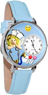 product image for Whimsical Watches Unisex U0620030 Nurse Angel Baby Blue Leather Watch