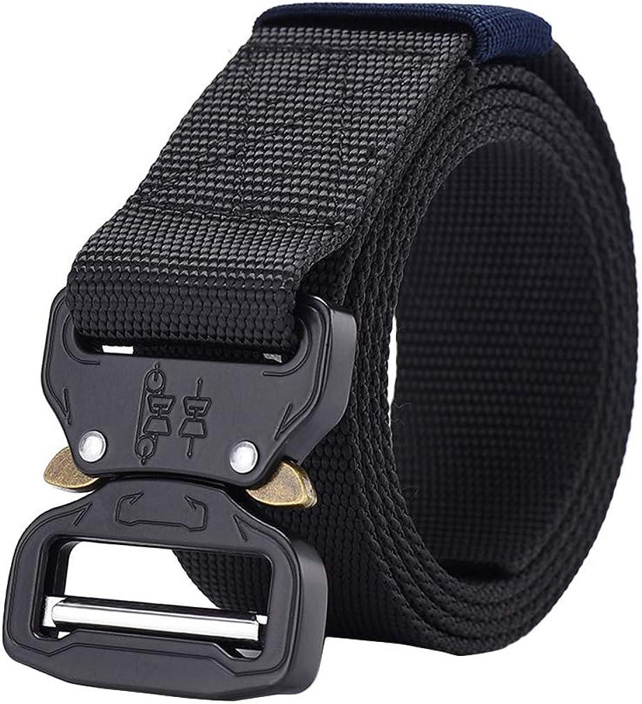 Xiang Ru Nylon Adjustable Webbing Belt with Quick-Release Buckle for Men