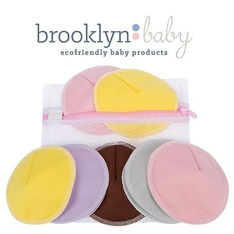 Brooklyn Baby Bamboo almohadillas de lactancia: más suave & absorbente, fabricado con bambú orgánico | reutilizable ...