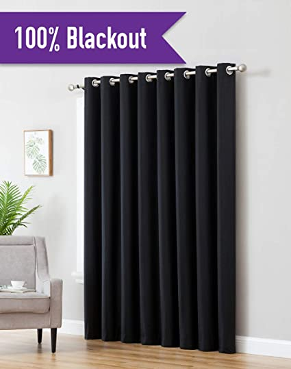 Amazoncom Hlcme Textured 100 Blackout Room Darkening Thermal