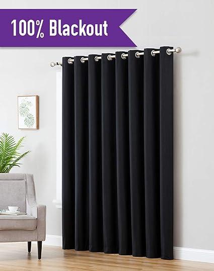 Amazoncom Hlcme Textured 100 Blackout Room Darkening Thermal