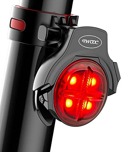 5 LED Bicycle Cycling Tail USB Rechargeable Red Warning Light Bike Rear RT