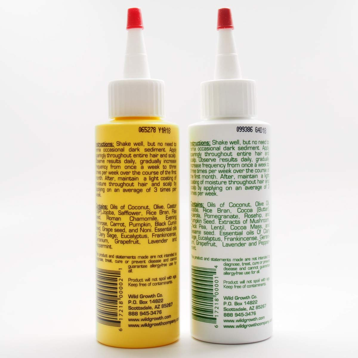 Wild Growth Set (Hair Oil 4 oz + Light Oil Moisturizer 4 oz) by Wild Growth