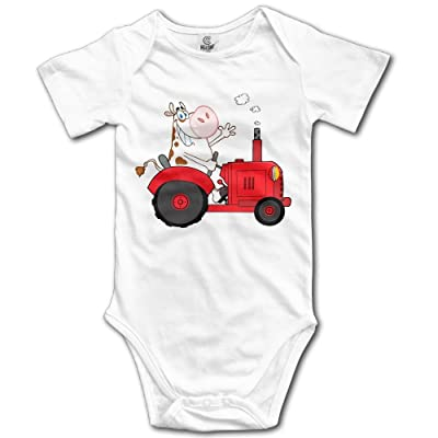 a5423d399be9 MUtang SHU Cow Driving Red Tractor Baby Romper Bodysuit Jumpsuit ...