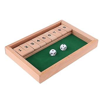 Juego de Mesa Shut The Box para 2-4 Jugadores - 25.6 x 17.5 x 3 cm ...
