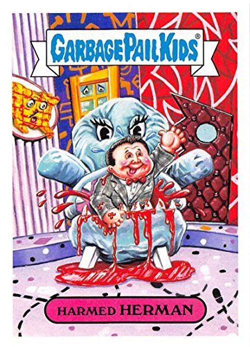 2018 Topps Garbage Pail Kids Series 1 We Hate the 80s Trading Cards 80s TV SHOWS and ADS - B NAMES #3B HARMED HERMAN (Tv Show Trading Card)