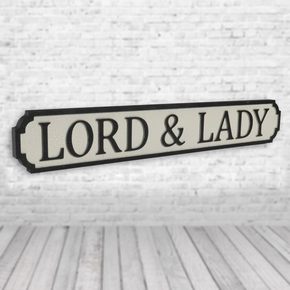 Lord and Lady Vintage Road Sign / Street Sign 1 wall