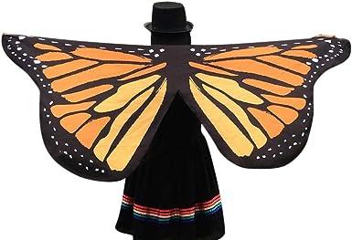 Mantón de mariposa Moda Chal de Alas de Mariposa Duendecillo para ...