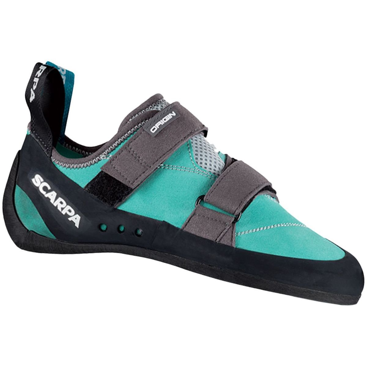 SCARPA Women's Origin WMN Climbing Shoe, Green Blue/Smoke, 34.5 EU/4 M US by SCARPA
