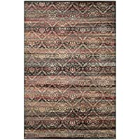 Couristan Zahara All Over Diamond Area Rug, 311 x 53, Red/Black/Oatmeal
