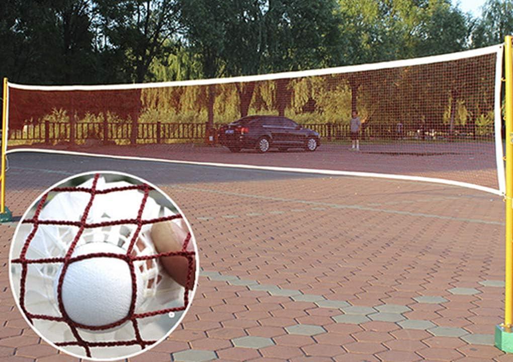 RUIXIB Portable Badminton Net Beach Volleyball Net for Indoor Outdoor Sports Garden Schoolyard Backyard,610 x 76 cm Standard Folding Competition Training Net Nylon Tennis Soccer Pickleball Nets