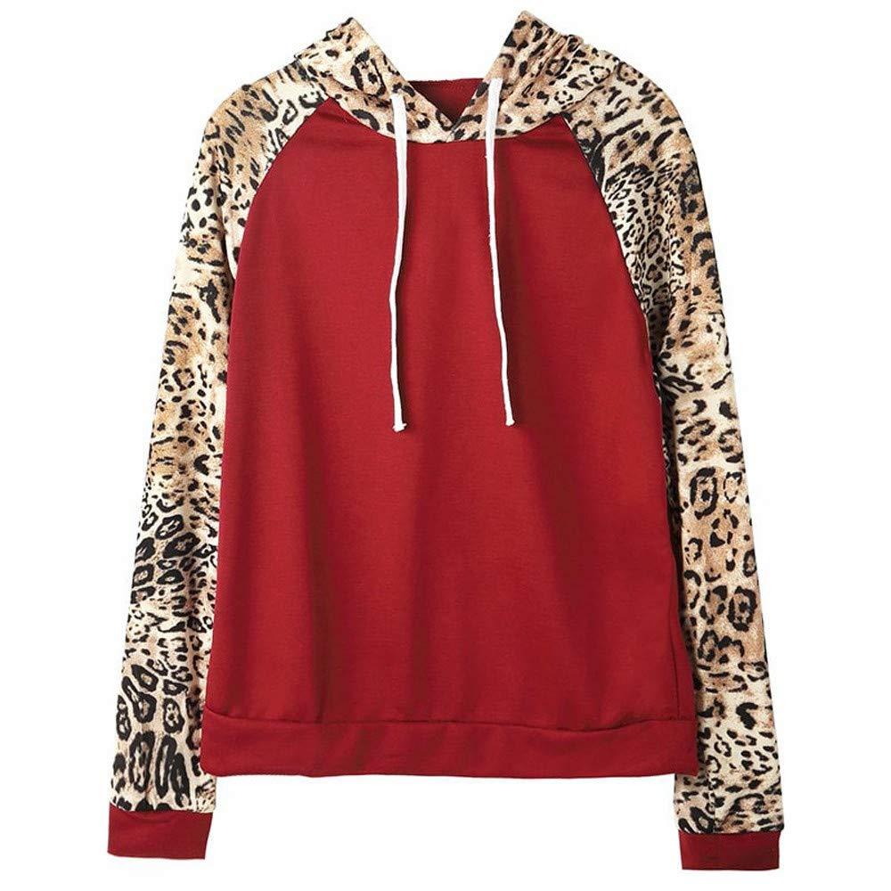Chanyuhui Women Shirts Plus Size Clearance Leopard Casual Long Sleeve Blouse Tunic Girls Sweatshirt Pullover Tops