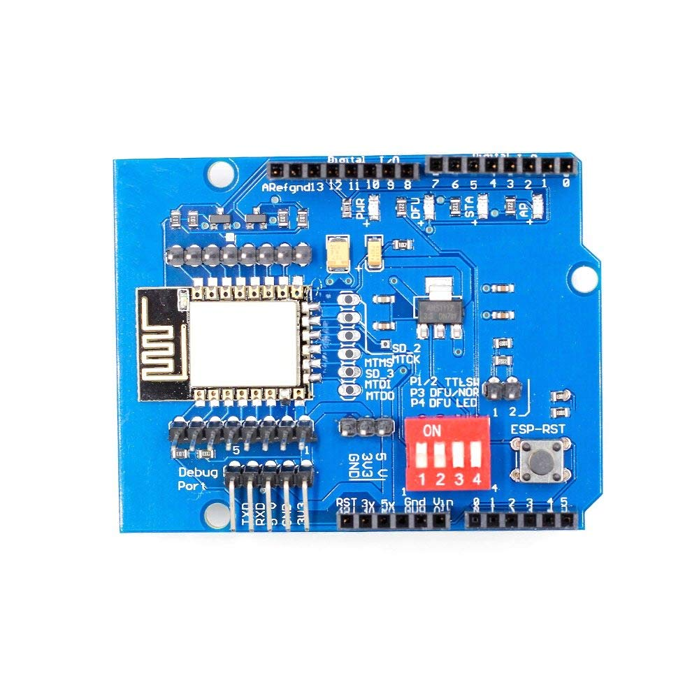 ESP8266 ESP-12E UART WiFi Wireless Shield Development Board for Arduino UNO R3 Circuits Boards Modules ONE